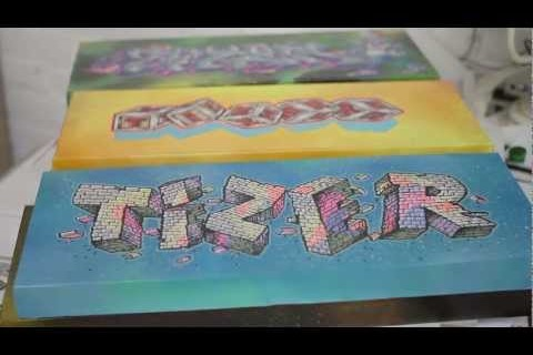Video: Spraying Bricks – SHOWCASE – TIZERONE