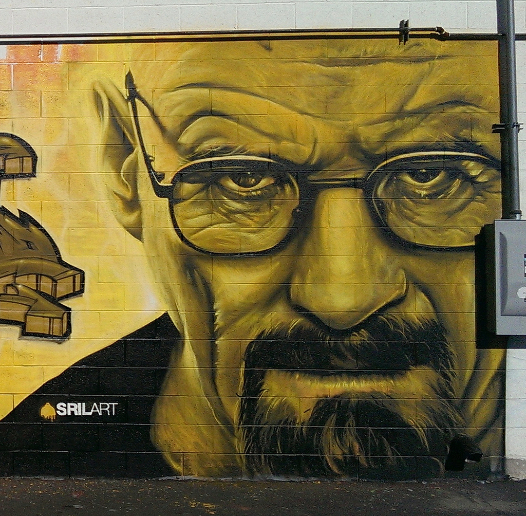 10810122433 d5fa26b328 b Graffiti and Street Art tributes to Breaking Bad