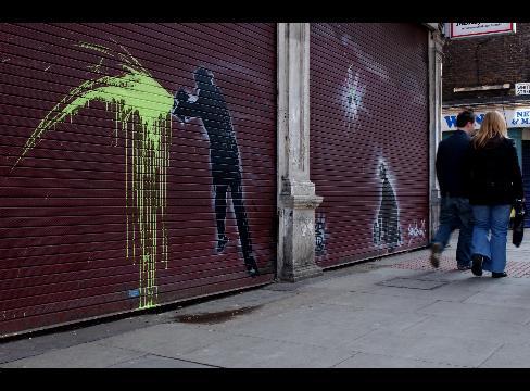 Banksy's Rival Nick Walker Sells 750,000 Pounds of Street Art