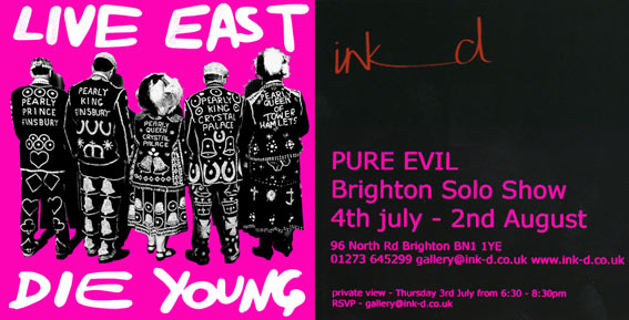 Live East Die Young : PURE EVIL SOLO SHOW at INK_D in Brighton