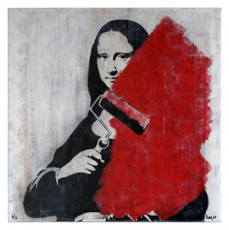 Dolk's 'The Last Mona' canvas available at handmadeposters