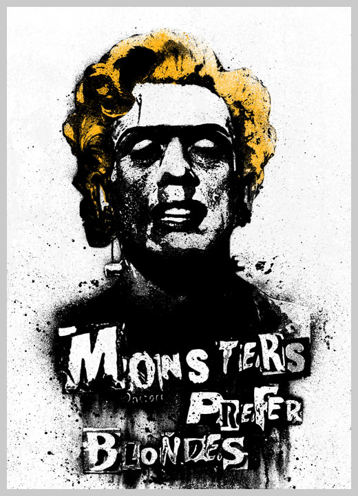 "New print from Pobel - ""Monsters Prefer Blondes"""