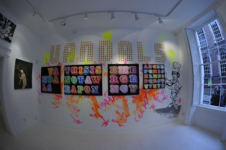 einewallfisheye 450x299 Stella Dore group show – interviews: part 6