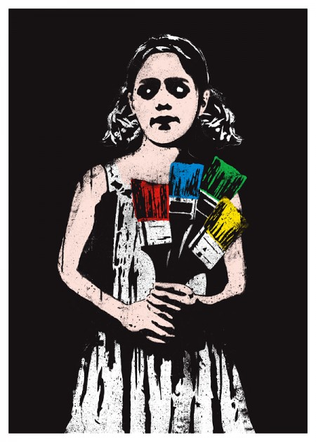 dolk paintbrush girl 450x630 New print from Dolk