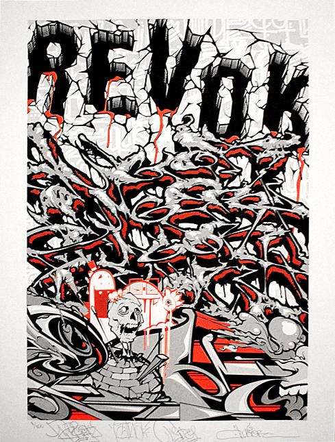 art msk 01a Print release: Revok x Retna x Augor x Pose