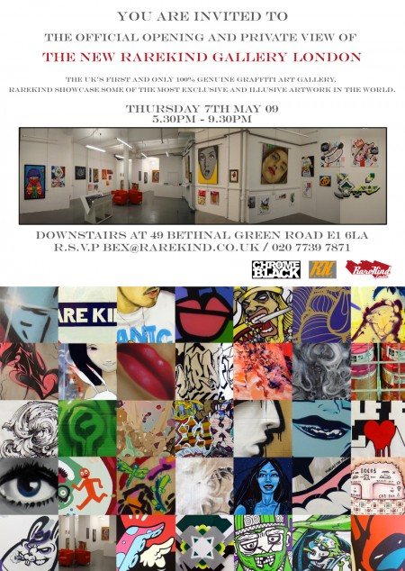 Diary date: May 7, Rarekind Gallery London opening