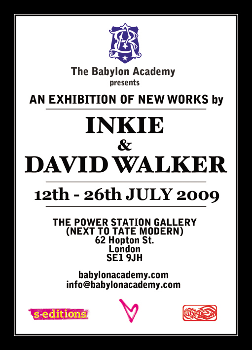 Inkie and David Walker 2009 flyer v2 Inkie & David Walker at Babylon Academy