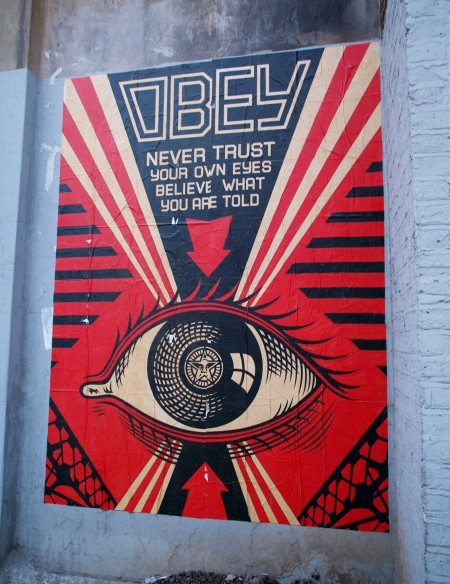 Obey poster in Farringdon