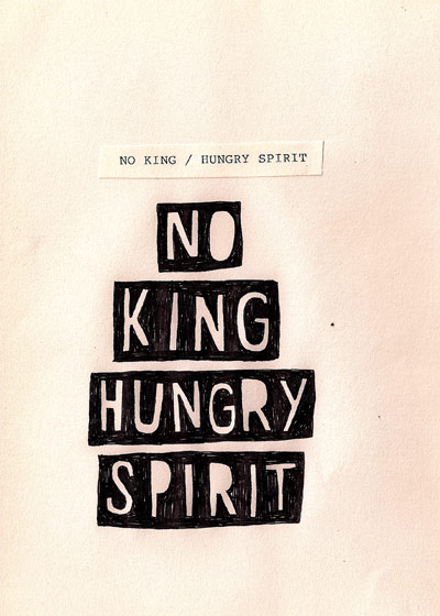 Book release: David Shillinglaw - No King Hungry Spirit