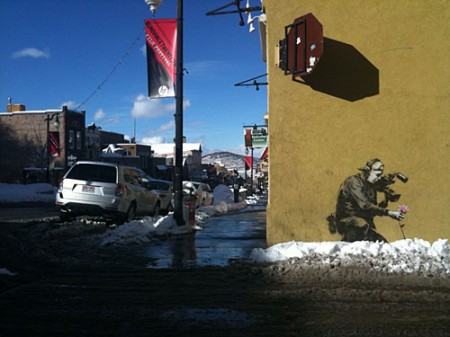 banksy sundance festival 450x337 Banksy at Sundance