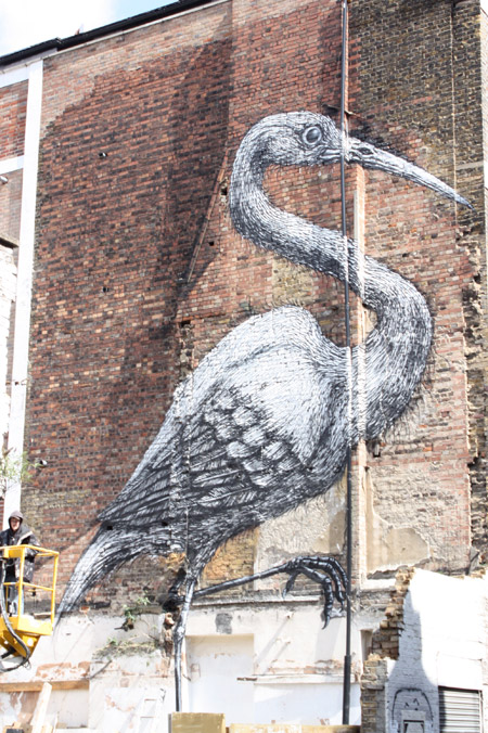 ROA paints the streets of Brick Lane + solo show at Pure Evil 2nd May