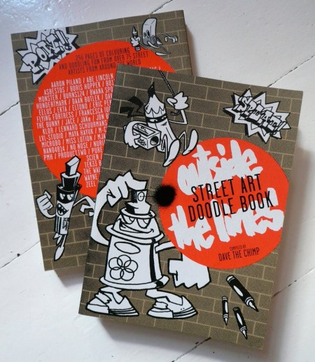 Book review: Street Art Doodle Book: Outside the Lines compiled by Dave The Chimp
