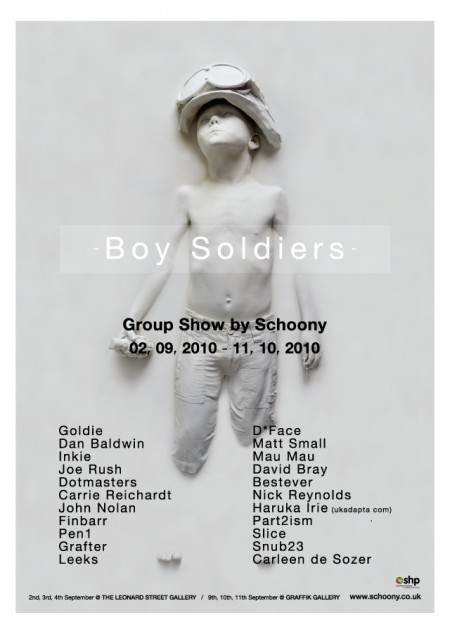 Boy Soldiers- Group Show by Schoony