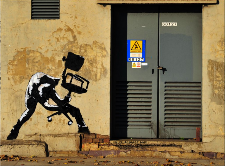 More new Banksy work in London