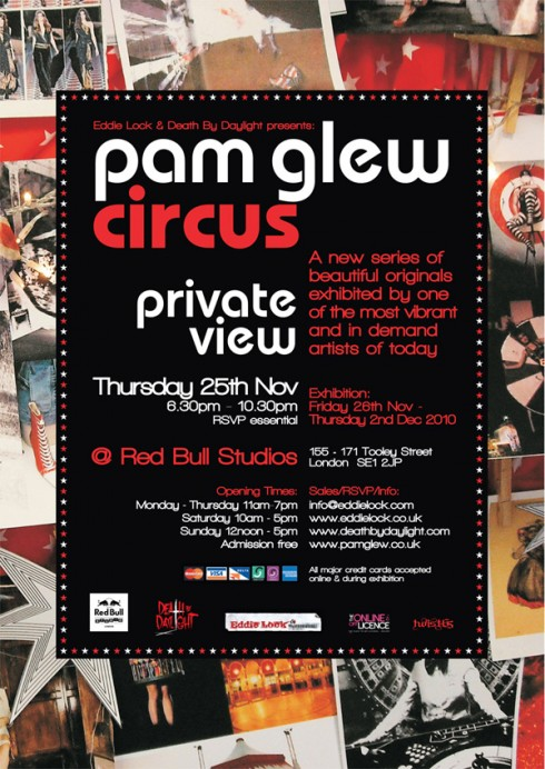 Invite 490x692 Pam Glew Solo show at The Red Bull Studios