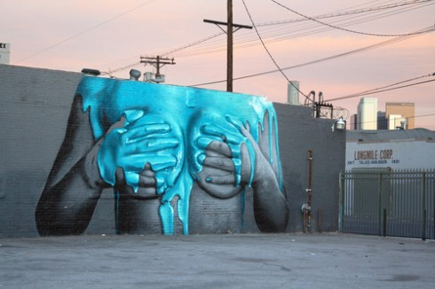 """Graffiti Fetish Mural"" by INSA for LA Freewalls Projects"