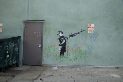 crayon boy 3 72 thumb 490x326 Video: Banksy in LA   Charlie Brown the Arsonist   2/15/11