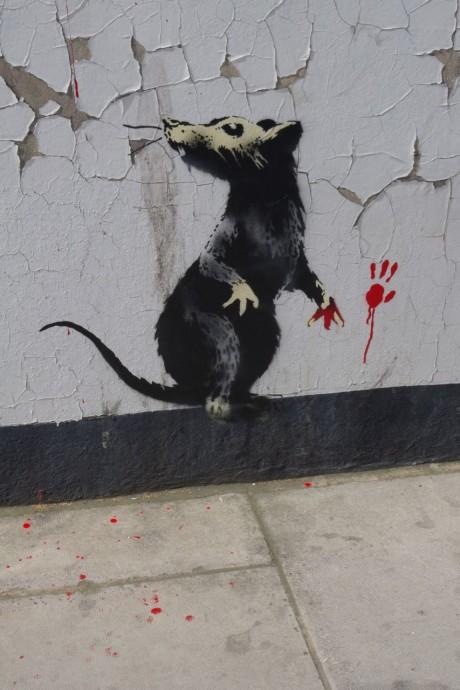 banksydetail2 460x690 New Banksy in London