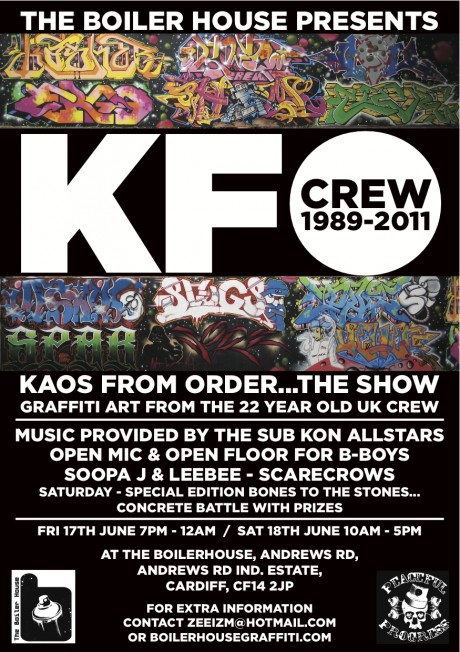 Exhibition: KFO Graffiti at The Boiler House Gallery, Cardiff