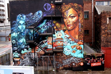 finalwall2 460x306 Video: Subism paint Manchesters largest Mural