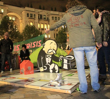 Banksy's new artwork for the Occupy London Movement