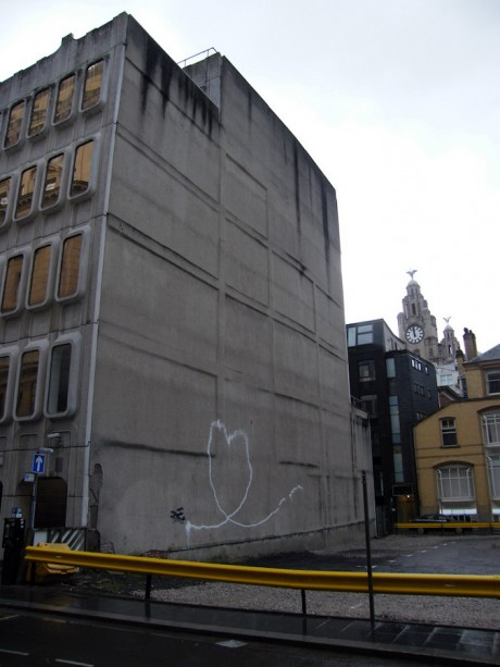 Banksy Biplane Loveheart in Liverpool