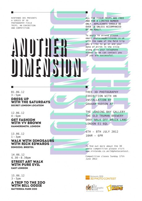 Nintendo 3DS Another Dimension E Flyer 460x650 Nintendo 3DS   Another Dimension: Pure Evil Street Art Tour of east London