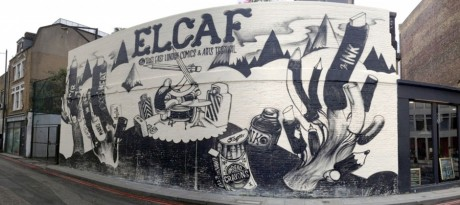 End of The Line's mural for East London's First Comic & Arts Festival