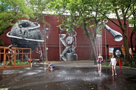 Phlegm on the streets of New York