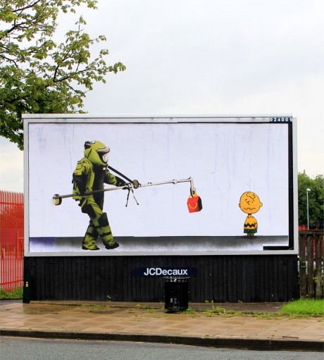Bill Posters McBomb 2 WEB 460x511 Brandalism   24 International artists create the UKs largest subvertising campaign