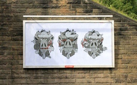 Dan B Monkey 1 WEB 460x284 Brandalism   24 International artists create the UKs largest subvertising campaign