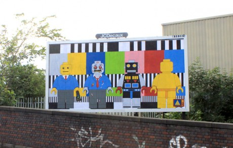 Dave H Lego 1 WEB 460x293 Brandalism   24 International artists create the UKs largest subvertising campaign
