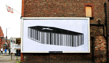 Insect Coffin 1 WEB 460x266 Brandalism   24 International artists create the UKs largest subvertising campaign