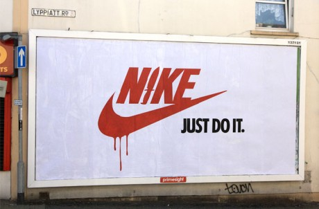 Shift Nike 2 Web1 460x302 Brandalism   24 International artists create the UKs largest subvertising campaign