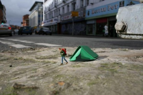 Slinkachu workshop event at the Rich Mix, London, Sunday 23rd September