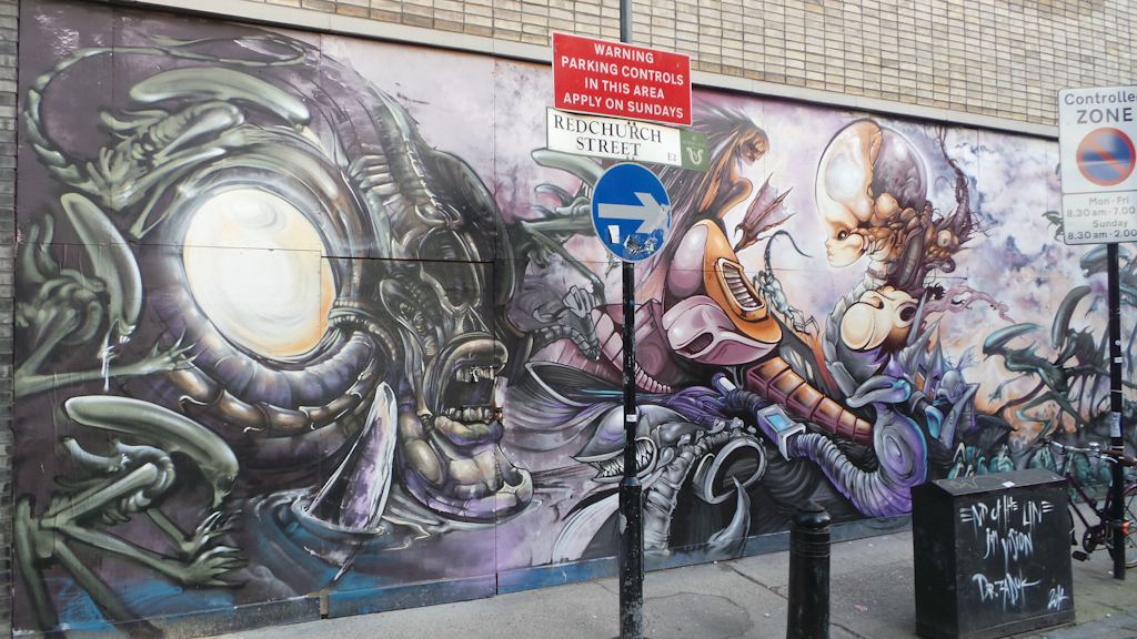 New Aliens Wall in Shoreditch
