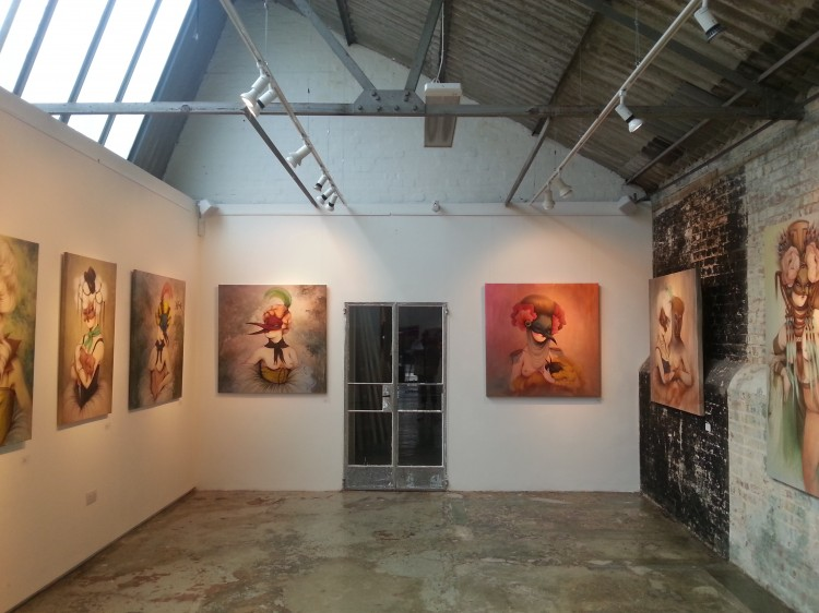 "Miss Van's ""Glamorous Darkness"" exhibition at Stolen Space Gallery"