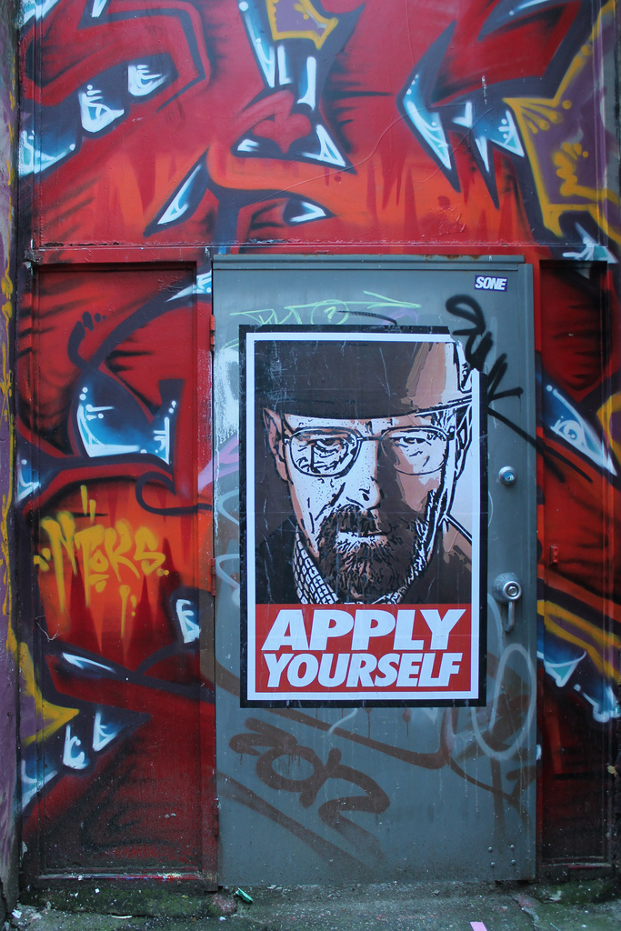 8540076239 b8d4b7bf91 b Graffiti and Street Art tributes to Breaking Bad
