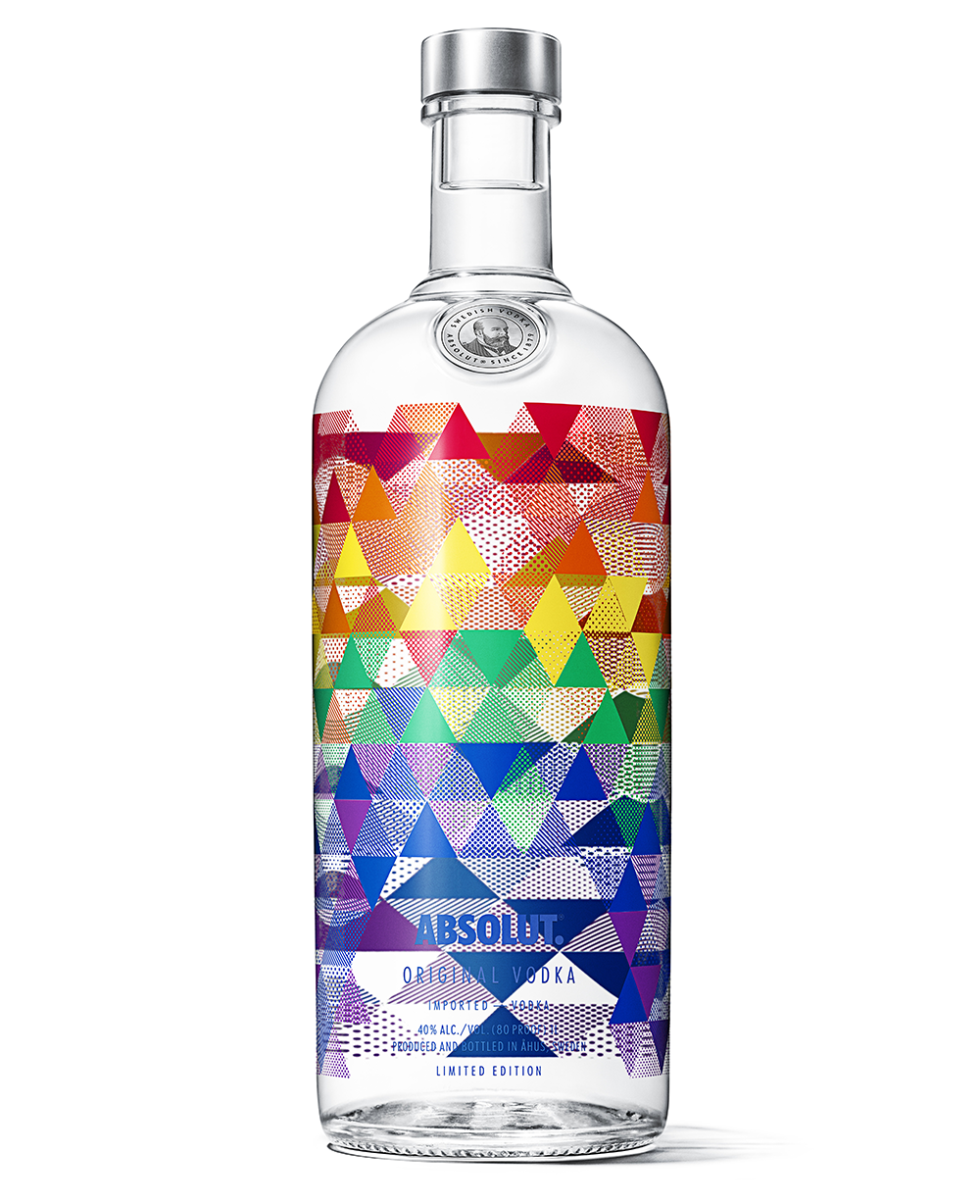 Absolut release the Mix bottle inspired by the 6 colours of the LGBT Pride flag