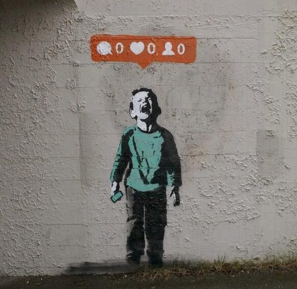 New Banksy pokes fun at social media