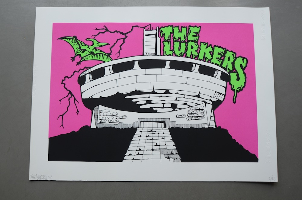 The Lurkers release prints and poster/sticker packs