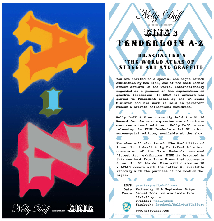 Nelly Duff Press Release: Ben EINE 'Tenderloin' A-Z