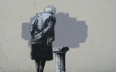 New Banksy artwork in Folkestone, UK
