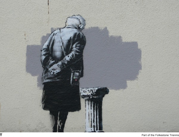 New Banksy artwork in Folkestone, UK