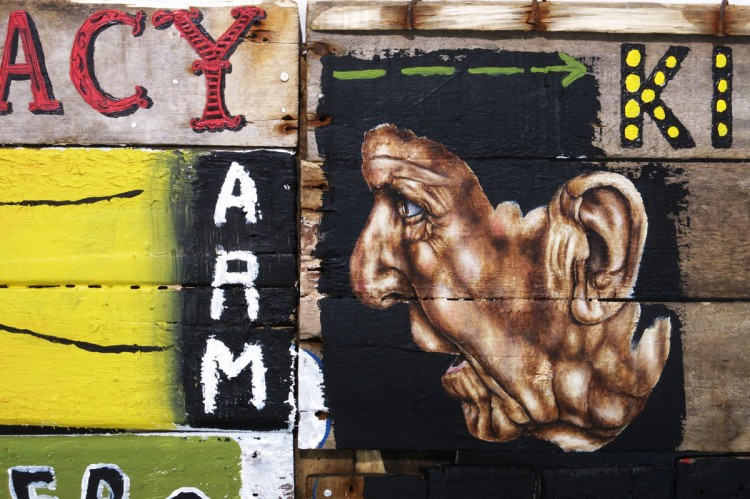 Hang-Up Gallery introduces Mark Powell's Junkyard Games at Moniker Art Fair 2014