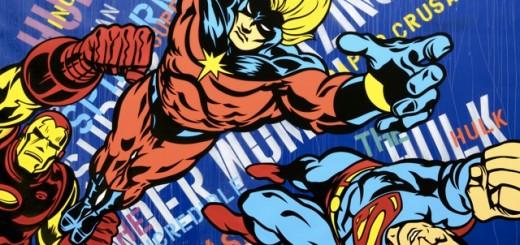 SEEN Ironman Captain America Opera Gallery London