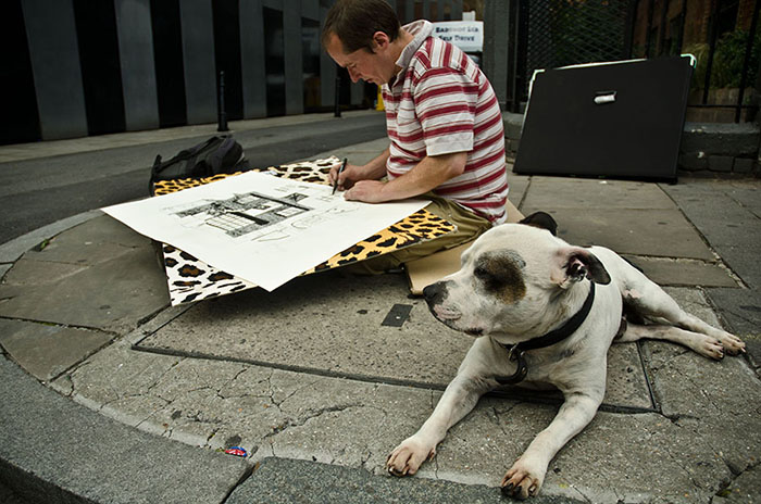 George the Dog, John the Artist