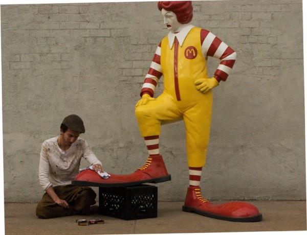 Banksy McDonalds Shoe Shine New York
