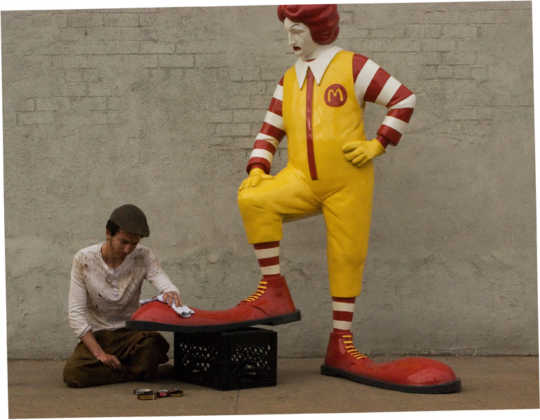 "Banksy - All-city, McDonalds ""Shoe Shine"""