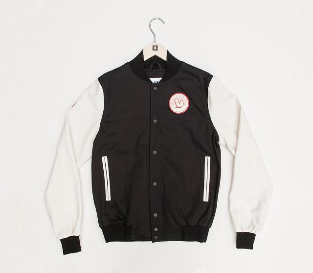 Mr Penfold Black f Mr Penfold White Canvas Project Varsity Jacket